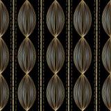 Modèle sans couture rayé moderne Backgroun abstrait noir de vecteur Photos libres de droits