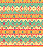 Modèle sans couture rayé ornemental décoratif de textile ethnique dans le vecteur Photo libre de droits