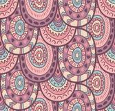 Modèle sans couture rayé ornemental indigène décoratif ethnique dans le vecteur Fond sans fin dans des couleurs douces Image stock