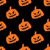 Modèle sans couture riant de potiron de Halloween illustration libre de droits
