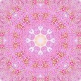 Modèle sans couture rond abstrait rose Photo stock
