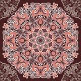 Modèle sans couture rond de conception florale Images stock
