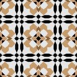 Modèle sans couture rond ornemental du Maroc Image stock