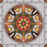 Modèle sans couture rond ornemental du Maroc Photos stock