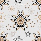 Modèle sans couture rond ornemental du Maroc Photos libres de droits