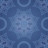 Modèle sans couture rond ornemental du Maroc Images stock