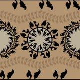 Modèle sans couture rond ornemental du Maroc Ornement traditionnel de l'Orient Photos stock