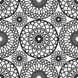 Modèle sans couture rond ornemental du Maroc Ornement traditionnel de l'Orient motif oriental plat Tuile marocaine Photos stock