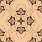 Modèle sans couture rond ornemental du Maroc plat Images stock