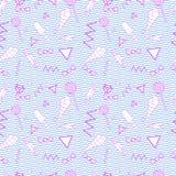 Modèle sans couture rose de griffonnage Image stock