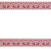 Modèle sans couture rouge de renne de Noël d'hiver Images stock
