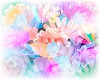 Modèle sans couture rougeoyant de vecteur floral coloré Abst ornemental illustration de vecteur
