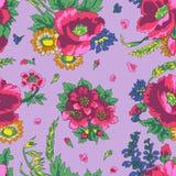 Modèle sans couture russe floral de vintage Photographie stock