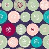 Modèle sans couture simple avec les fleurs tirées par la main abstraites Photo stock