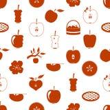 Modèle sans couture simple rouge de thème d'Apple Images libres de droits