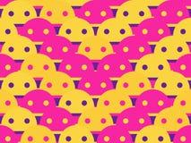 Modèle sans couture souriant Le smiley montre la langue, l'émotion de la joie Vecteur illustration de vecteur