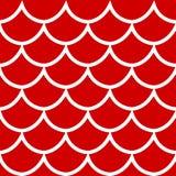 Modèle sans couture sur l'illustration rouge de vecteur de fond Image stock