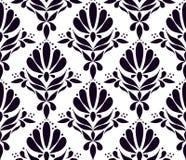 Modèle sans couture sur la texture de luxe élégante de fond blanc pour des milieux de papiers peints, papier de chute, textile, t illustration libre de droits