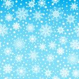 Modèle sans couture, texture avec des flocons de neige et neige sur le fond bleu illustration de vecteur