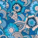 Modèle sans couture tiré par la main avec les éléments floraux Photo stock
