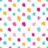 Modèle sans couture tiré par la main coloré de point de polka illustration libre de droits