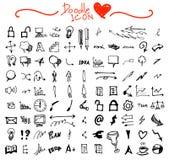 Modèle sans couture tiré par la main de griffonnage avec les symboles eps10 d'affaires Photos libres de droits