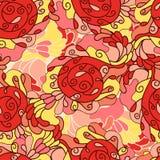 Modèle sans couture tiré par la main de Zentangle pour des cartes, invitation, W illustration stock