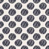 Modèle sans couture tiré par la main géométrique de points de polka Images libres de droits