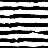 Modèle sans couture tiré par la main monochrome de vecteur Photo libre de droits