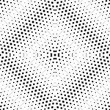 Modèle sans couture tramé de vecteur Gradient noir et blanc radial illustration libre de droits