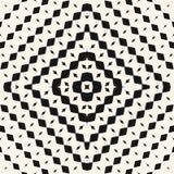 Modèle sans couture tramé radial de vecteur Fond géométrique noir et blanc illustration libre de droits