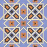 Modèle sans couture triangulaire et hexagonal ornemental du Maroc Photos libres de droits