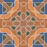 Modèle sans couture triangulaire et rond ornemental du Maroc Photo libre de droits