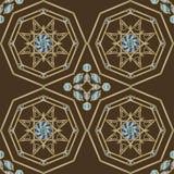 Modèle sans couture triangulaire et rond ornemental du Maroc Photographie stock libre de droits