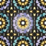Modèle sans couture triangulaire et rond ornemental du Maroc Photographie stock