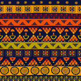 Modèle sans couture tribal Photo libre de droits