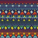 Modèle sans couture tribal Images libres de droits