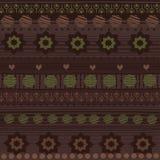 Modèle sans couture tribal illustration stock