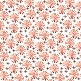 Modèle sans couture tribal d'aquarelle Éléments géométriques de boho Image stock