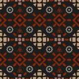 Modèle sans couture tribal de Boho illustration stock