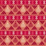 Modèle sans couture tribal de Noël Photographie stock libre de droits