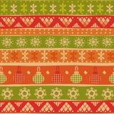 Modèle sans couture tribal de Noël Photos stock