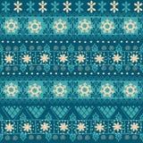 Modèle sans couture tribal de Noël illustration de vecteur