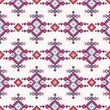 Modèle sans couture tribal ethnique avec l'ornement géométrique illustration stock