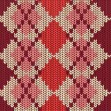 Modèle sans couture tricoté avec le losange Photos stock