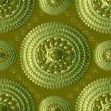 Modèle sans couture tricoté par Grec texturisé du vert 3d Tapestr de vecteur illustration stock