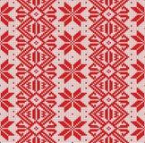 Modèle sans couture tricoté par nordic Fond de Noël de vecteur Coloré, décoration image libre de droits