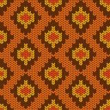 Modèle sans couture tricoté par serpent Photo libre de droits
