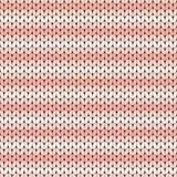 Modèle sans couture tricoté rayé rose Image stock