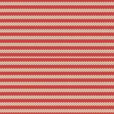 Modèle sans couture tricoté traditionnel scandinave rayé rouge et beige d'hiver Fond pendant Noël et l'année neuve Images stock